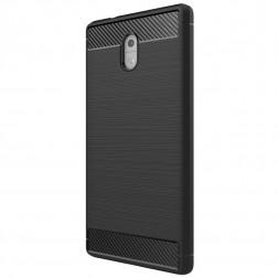 """""""Carbon"""" kieto silikono (TPU) dėklas - juodas (Nokia 3)"""