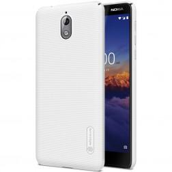"""""""Nillkin"""" Frosted Shield dėklas - baltas + apsauginė ekrano plėvelė (Nokia 3.1 2018)"""
