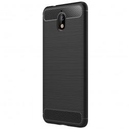 """""""Carbon"""" kieto silikono (TPU) dėklas - juodas (Nokia 3.1 2018)"""
