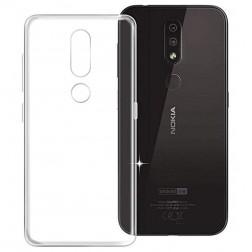 Kieto silikono (TPU) dėklas - skaidrus (Nokia 4.2)