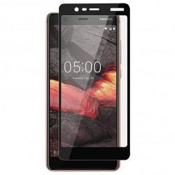"""""""Rurihai"""" Tempered Glass pilnai dengiantis apsauginis ekrano stiklas 0.26 mm - juodas (Nokia 5.1 2018)"""