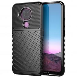 """""""Twill"""" kieto silikono (TPU) dėklas - juodas (Nokia 5.4)"""