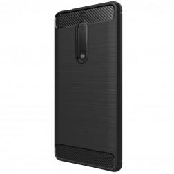 """""""Carbon"""" kieto silikono (TPU) dėklas - juodas (Nokia 5)"""