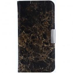"""""""Marble"""" atverčiamas dėklas - rudas (Nokia 5)"""