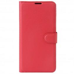 Atverčiamas dėklas, knygutė - raudonas (Nokia 5)