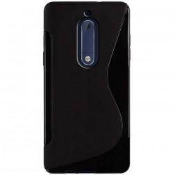 """""""S-Line"""" kieto silikono (TPU) dėklas - juodas (Nokia 5)"""