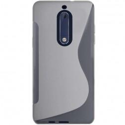 """""""S-Line"""" kieto silikono (TPU) dėklas - skaidrus (Nokia 5)"""