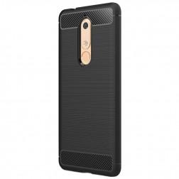 """""""Carbon"""" kieto silikono (TPU) dėklas - juodas (Nokia 5.1 2018)"""