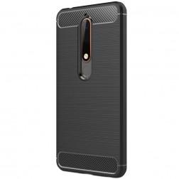 """""""Carbon"""" kieto silikono (TPU) dėklas - juodas (Nokia 6 2018 / Nokia 6.1)"""
