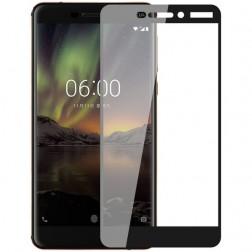 """""""Imak"""" Tempered Glass pilnai dengiantis apsauginis ekrano stiklas 0.2 mm - juodas (Nokia 6 2018)"""