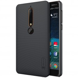 """""""Nillkin"""" Frosted Shield dėklas - juodas (Nokia 6 2018 / Nokia 6.1)"""