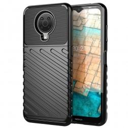 """""""Twill"""" kieto silikono (TPU) dėklas - juodas (Nokia 6.3 / G10 / G20)"""
