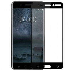 """""""Calans"""" Tempered Glass pilnai dengiantis apsauginis ekrano stiklas 0.2 mm - juodas (Nokia 6)"""