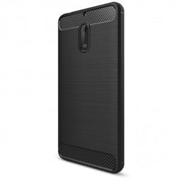 """""""Carbon"""" kieto silikono (TPU) dėklas - juodas (Nokia 6)"""