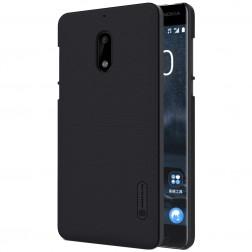"""""""Nillkin"""" Frosted Shield dėklas - juodas + apsauginė ekrano plėvelė (Nokia 6)"""