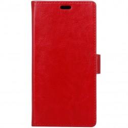 Atverčiamas dėklas, knygutė - raudonas (Nokia 6)