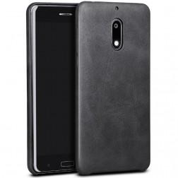 """""""X-Level"""" Vintage dėklas - juodas (Nokia 6)"""