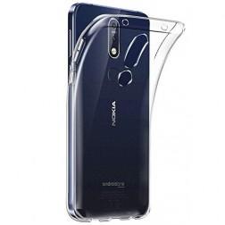 Kieto silikono (TPU) dėklas - skaidrus (Nokia 7.1 2018)