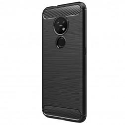 """""""Carbon"""" kieto silikono (TPU) dėklas - juodas (Nokia 7.2 / Nokia 6.2)"""