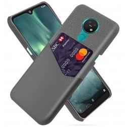 """""""KSQ"""" Shell dėklas su kišenėle - pilkas (Nokia 7.2 / Nokia 6.2)"""
