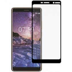 """Imak"" Tempered Glass apsauginis ekrano stiklas 0.26 mm - juodas (Nokia 7 Plus)"