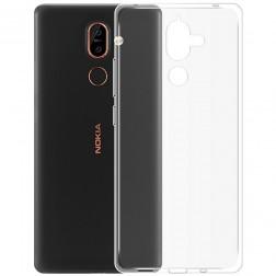 Kieto silikono (TPU) dėklas - skaidrus (Nokia 7 Plus)