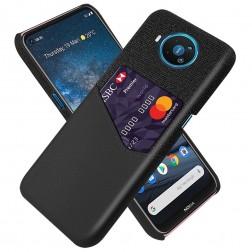 """""""KSQ"""" Shell dėklas su kišenėle - juodas (Nokia 8.3)"""
