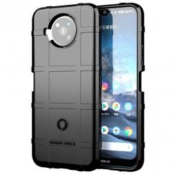 """""""Stiff"""" kieto silikono (TPU) dėklas - juodas (Nokia 8.3)"""