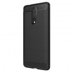 """""""Carbon"""" kieto silikono (TPU) dėklas - juodas (Nokia 8)"""