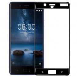 """""""3D Rewan"""" Tempered Glass apsauginis ekrano stiklas 0.26 mm - juodas (Nokia 8)"""