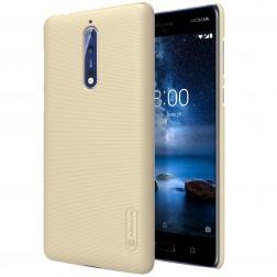 """""""Nillkin"""" Frosted Shield dėklas - auksinis + apsauginė ekrano plėvelė (Nokia 8)"""