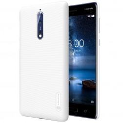 """""""Nillkin"""" Frosted Shield dėklas - baltas + apsauginė ekrano plėvelė (Nokia 8)"""