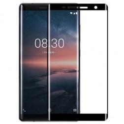 """""""Calans"""" Tempered Glass pilnai dengiantis apsauginis ekrano stiklas 0.2 mm - juodas (Nokia 8 Sirocco)"""