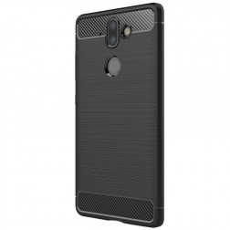 """""""Carbon"""" kieto silikono (TPU) dėklas - juodas (Nokia 8 Sirocco)"""