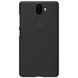 """""""Nillkin"""" Frosted Shield dėklas - juodas + apsauginė ekrano plėvelė (Nokia 8 Sirocco)"""