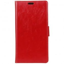 Atverčiamas dėklas, knygutė - raudonas (Nokia 8 Sirocco)