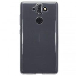 Kieto silikono (TPU) dėklas - skaidrus (Nokia 8 Sirocco)