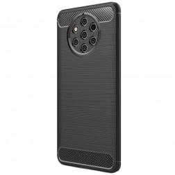 """""""Carbon"""" kieto silikono (TPU) dėklas - juodas (Nokia 9 PureView)"""