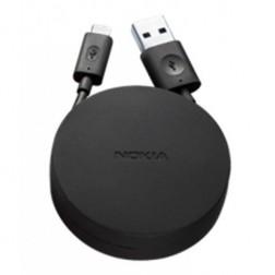 """""""Nokia"""" micro USB laidas su įmaute - juodas (1,2 m.)"""