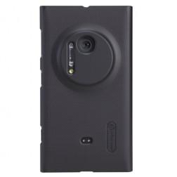 """""""Nillkin"""" Frosted Shield dėklas - juodas + apsauginė ekrano plėvelė (Lumia 1020)"""