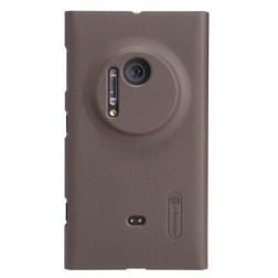 """""""Nillkin"""" Frosted Shield dėklas - rudas + apsauginė ekrano plėvelė (Lumia 1020)"""
