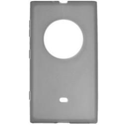 Kieto silikono (TPU) skaidrus dėklas - pilkas (Lumia 1020)