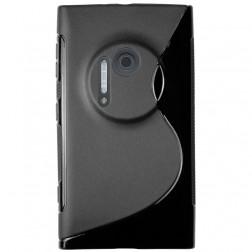 Kieto silikono (TPU) dėklas - juodas (Lumia 1020)