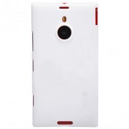 """""""Nillkin"""" Frosted Shield dėklas - baltas + apsauginė ekrano plėvelė (Lumia 1520)"""