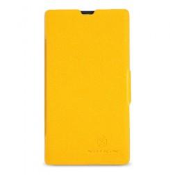 """""""Nillkin"""" Fresh atverčiamas dėklas - geltonas (Lumia 520)"""