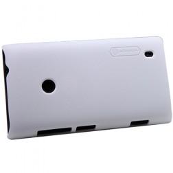 """""""Nillkin"""" Frosted Shield dėklas - baltas + apsauginė ekrano plėvelė (Lumia 520)"""