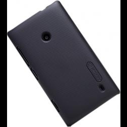 """""""Nillkin"""" Frosted Shield dėklas - juodas + apsauginė ekrano plėvelė (Lumia 520)"""