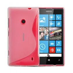 Silikoninis dėklas - skaidrus (Lumia 520)