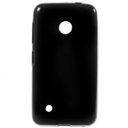 """""""Jelly Case"""" kieto silikono dėklas - juodas (Lumia 530)"""