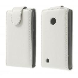 Klasikinis atverčiamas dėklas - baltas (Lumia 530)